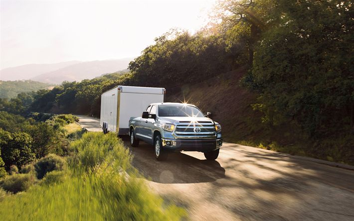 Download wallpapers Toyota Tundra, 4k, 2017 cars, pickups, offroad, USA, Toyota