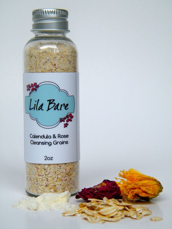 Calendula & Rose Cleansing Grains - natural, safe, 2oz