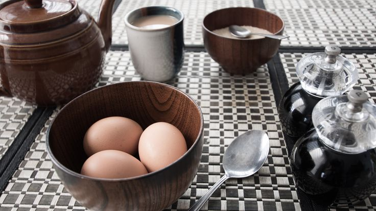 L1M2AS1 Still Life Breakfast ISO200 20mm f/3.5 1/13th sec Nikon D7100 Tripod w 2sec timer. Shallow dof, colours muted to blend in with the brown of the teapot and bowl. Focal point on the egg and rim of bowl on the right.   Side note: Would you prefer images in the assignment to be from the dame shoot, or can i pick and choose from my 3 attempts. There's an egg in each of them - they're kind of thematicall :P)