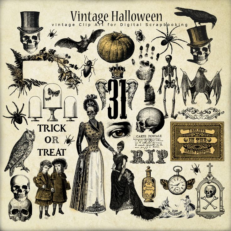 Far Far Hill Free Vintage Papers Halloween Images Vintage Halloween Halloween Art