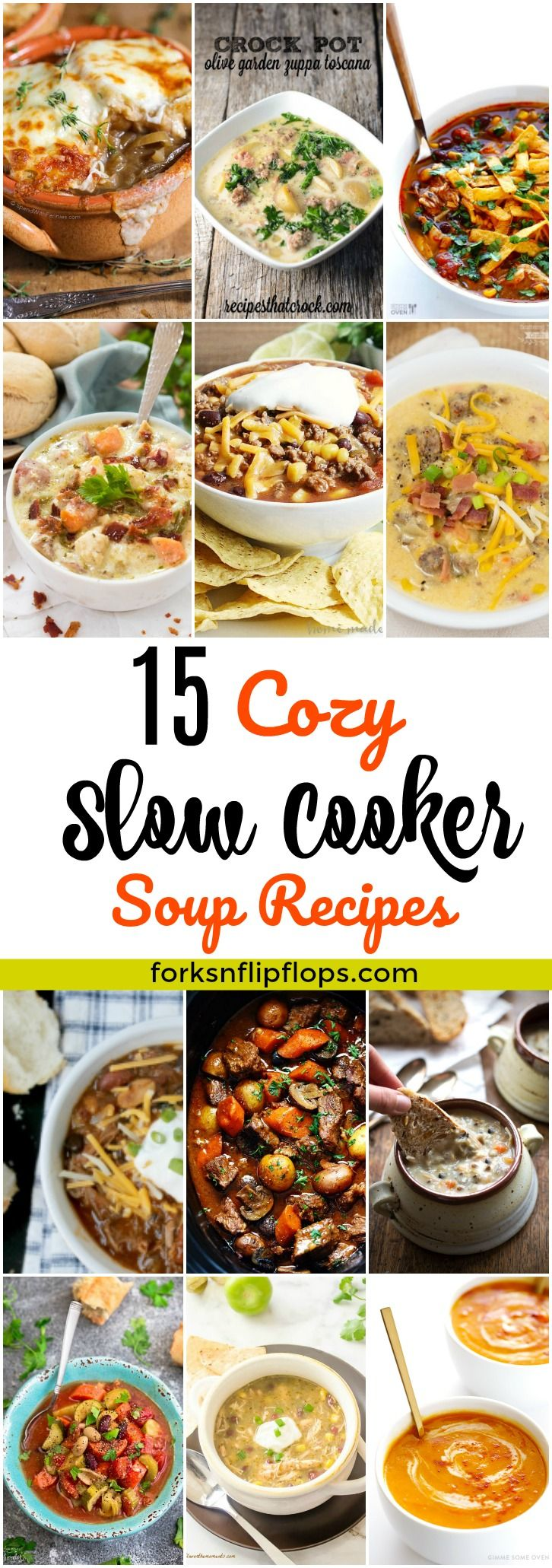 A roundup of delicious slow cooker soup recipes to keep you warm during the chilly months. I've scoured the internet in search of the 15 Best Crockpot Soup Recipes that you must try! Its a mix of hearty and healthy soups.