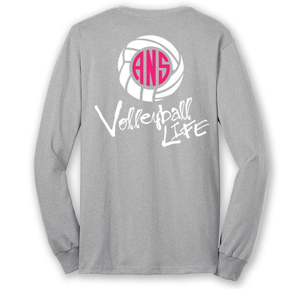 official tm volleyball life script custom monogram long sleeve t shirt volleyball shirt