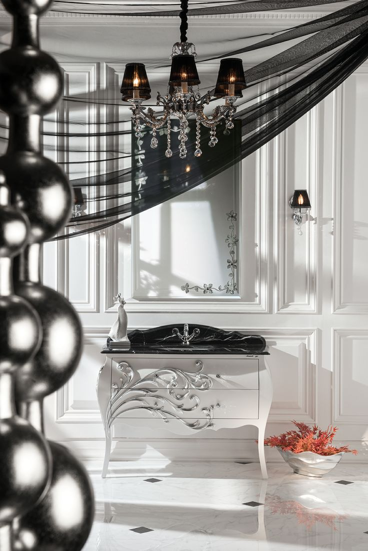 Topex Armadi Art Andante white pearl and silver bath vanity from our Classic Collection!