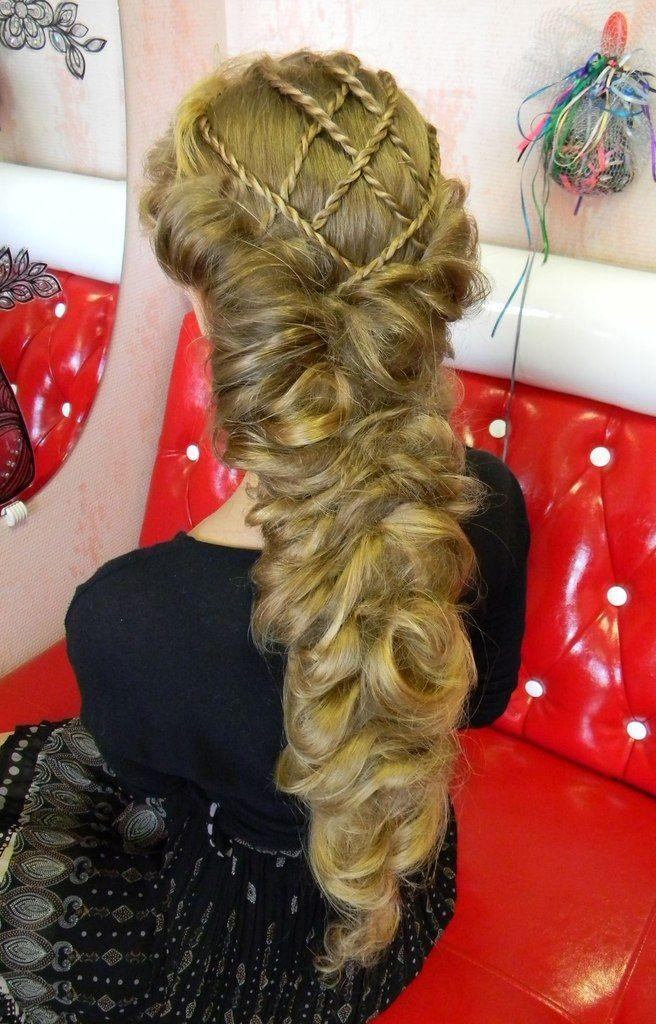 pulled braid with Juliet cap crossed braids above
