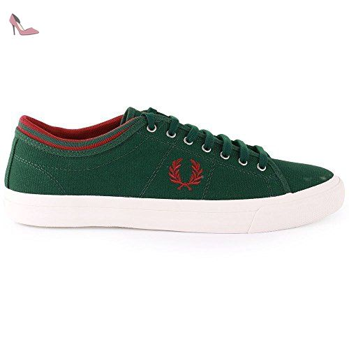 Fred Perry Kendrick Tipped Cuff Green Mens Trainers Size 46 EU - Chaussures fred perry (*Partner-Link)