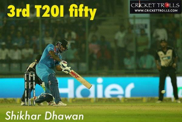 Shikhar Dhawan scored his maiden ODI fifty vs New Zealand #INDvNZ - http://ift.tt/1ZZ3e4d