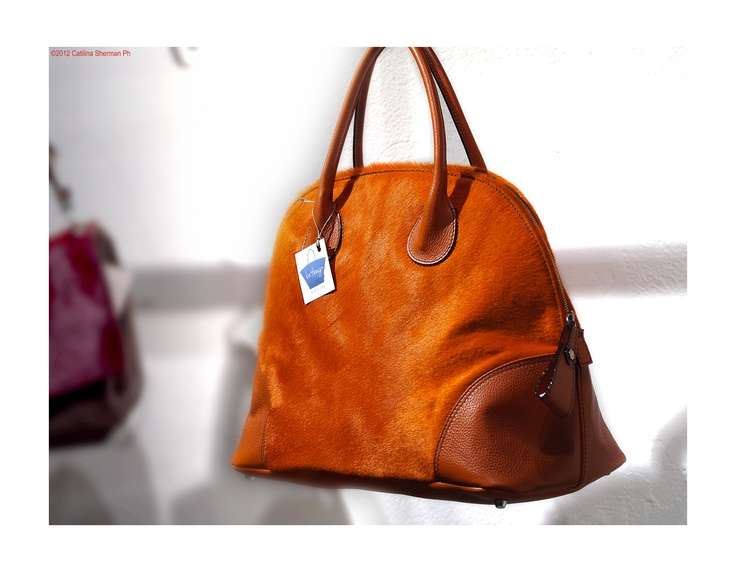 bowling bag - pony leather