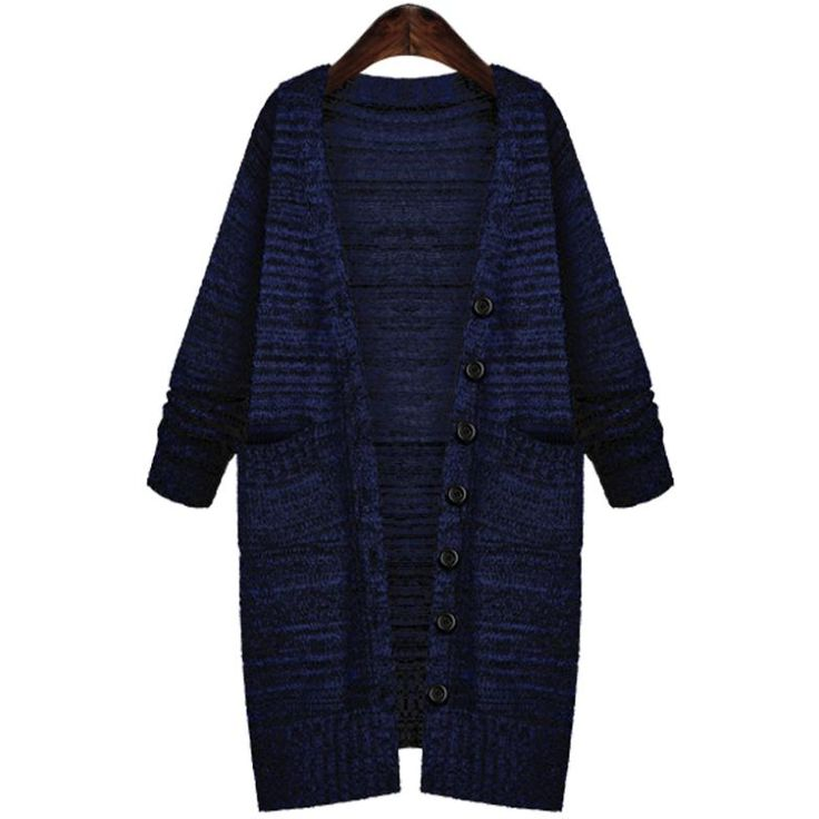 Discount in the spring and autumn winter long sweater coat With thick loose coarse wire knitting cardigan dress