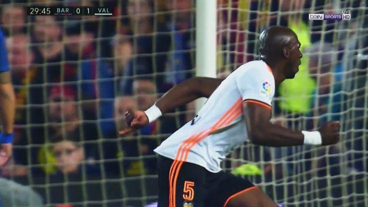 Eliaquim Mangala Header Goal - Barcelona vs Valencia 0-1 - La Liga 19/03...