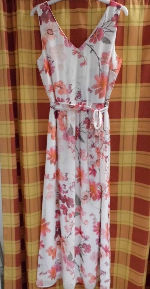 cc9cffacf2f WALLIS PETITE Floral Print Maxi Dress Size 10 Ivory   Pink (New With Tag)   fashion  clothing  shoes  accessories  womensclothing  dresses (ebay link)