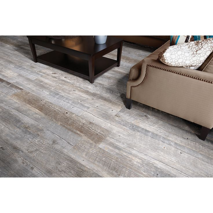 Shop Style Selections Natural Timber Ash Glazed Porcelain Indoor/Outdoor Floor Tile (Common: 8-in x 48-in; Actual: 7.72-in x 47.4-in) at Low...