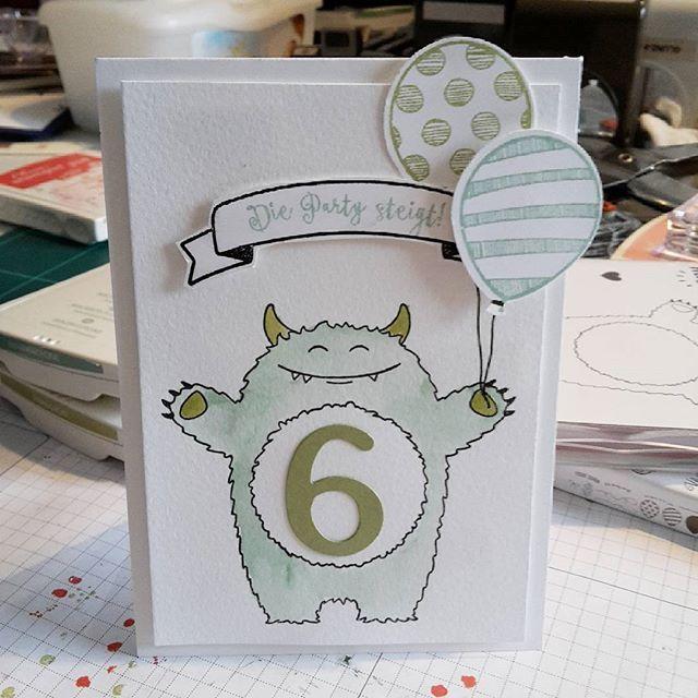 Yummy in My Tummy birthday card Stampin Up!