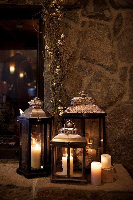 Best rustic candle decor ideas images on pinterest