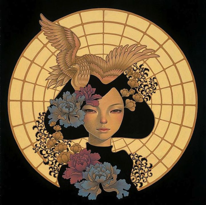 First Look: Audrey Kawasaki's Gorgeous Wood Panel Paintings - My Modern Metropolis // I would love for this lady to do a portrait of me!