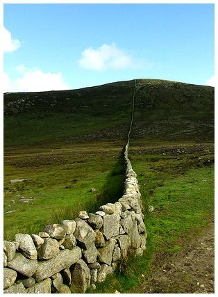 Mourne Wall, Mourne Mountains, Co Down, Northern Ireland