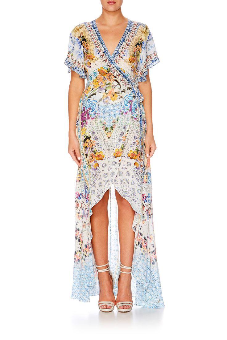Camilla - Girl Next Door Wrap Dress W High Low Hem