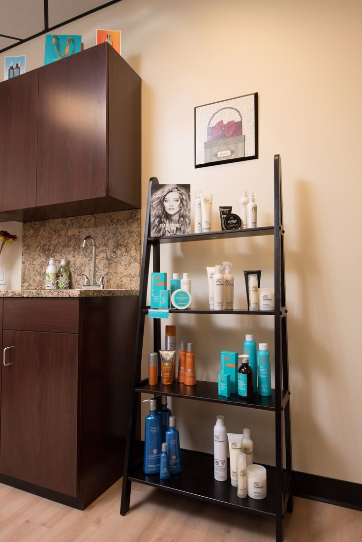 Salon Retail, Retail Shelving, Salon Ideas, Barber