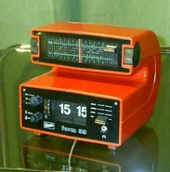 """Klappzahlen-Uhrenradio von GRAETZ Modell """"Form 99"""" - ein umwerfendes Design von 1974/1975!"""