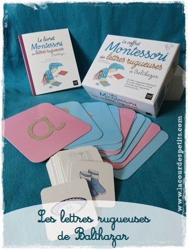 Les lettres rugueuses Montessori de Balthazar |La cour des petits http://www.lacourdespetits.com/lettres-rugueuses-montessori-de-balthazar/