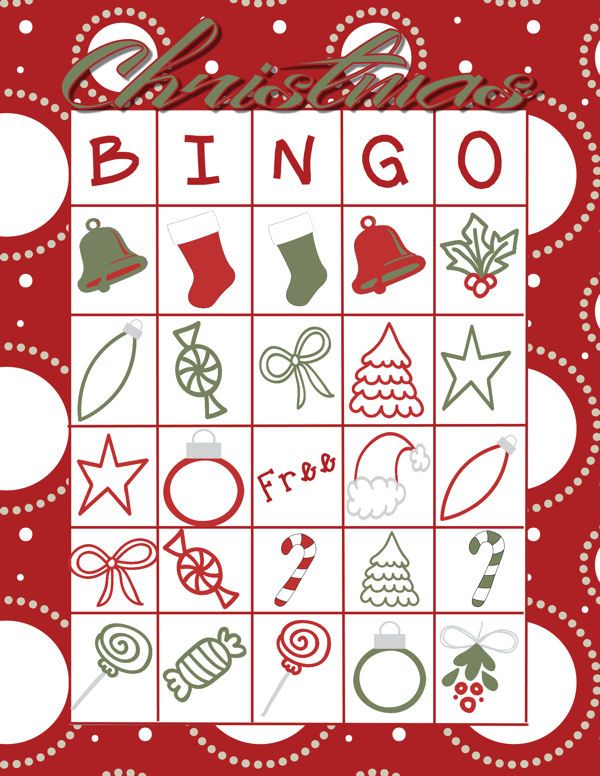 I am ready for Christmas break! Enjoy some family time with this free printable Christmas Bingo game, with five Bingo cards.