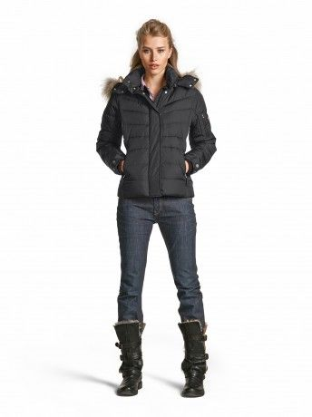 Down Jacket Sale-D - The classic down jacket from Fire + Ice is an all-star piece that continues to offer style and comfort that can be enjoyed in every occasion, on the slopes or in the city!
