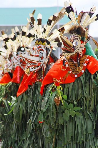 manifestation of guardian spirits for Dayak tribe in East Kalimantan (Borneo), Indonesia
