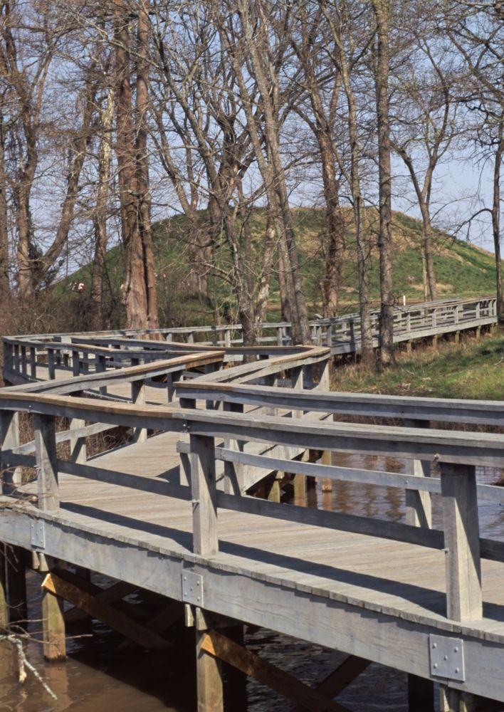 Check out this list of barrier-free trails in Arkansas! Pictured: Knapp Trail at Toltec Mounds Archeological State Park in Scott