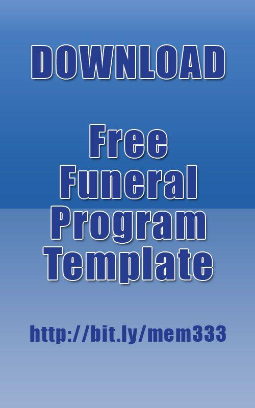 Download funeral program template for free http://funeralmemorial.prolog.website/