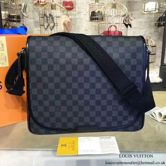 f4671837aaaf Louis Vuitton N58029 Daniel MM Messenger Bag Damier Graphite Canvas ...