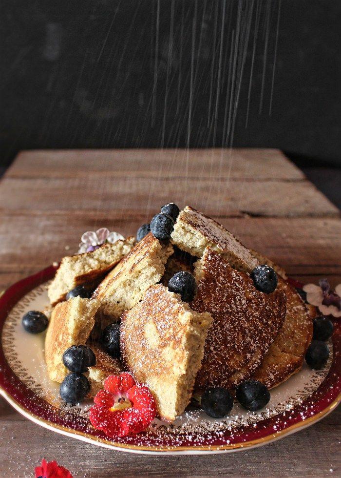 gluten and dairy free austrian kaiserschmarrn (torn pancakes)