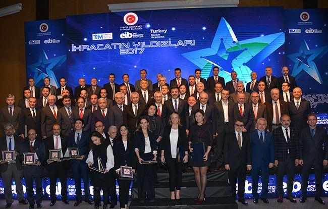 Murat Demircan - İZMİR - Ege İhracatçı Birlikleri, Türkiye İhracatına 2017 yılında 5.5 milyar dolarlık katkı sağlayan 56 üyesini ödüllendirdi. 'İhracatın  Yakamoz Yakut culture and arts news