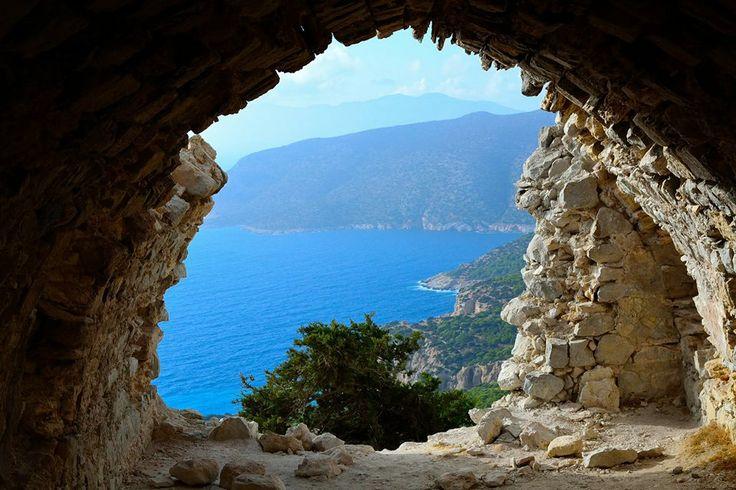 Monolithos castle view