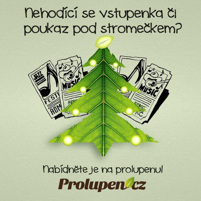 Nehodící se vstupenka či dárkový poukaz pod stromečkem? Jednoduše ho prodej na www.prolupen.cz  :-)