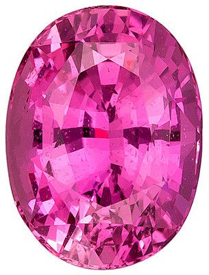 Genuine Pink Sapphire Loose Gemstone, Oval Cut, 9.6 x 7.2 mm, 3.27 Carats at BitCoin Gems