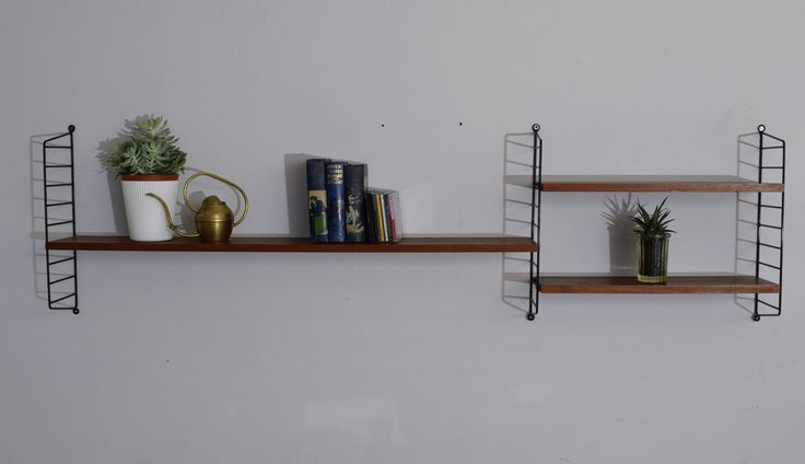 String Shelving Unit Bookcase Vintage Mid Century Ladderax Style photo 1