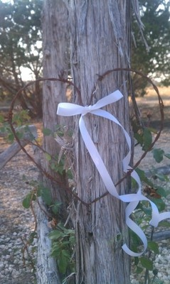 Rustic Western Wedding Barbed Wire Hearts Set of 10 | eBay
