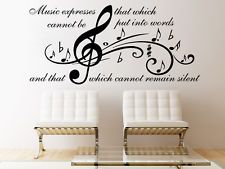 Music Wall Decal Quote Music Expresses That Vinyl Stickers Note Home Decor SM17
