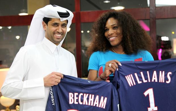 Serena Willians ganha camisa personalizada do PSG (Foto: Divulgação)