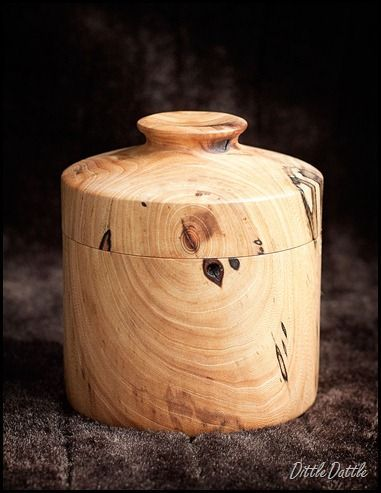 Wood Turning Wooden Beech Lidded box at Dittle Dattle