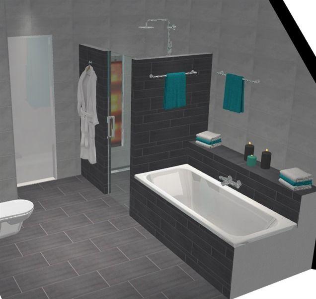 17 beste idee n over grijze badkamers op pinterest grijze badkamerinrichting toilet kleuren - Deco toilet grijs en wit ...