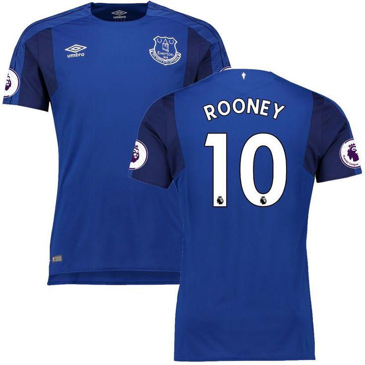 Wayne Rooney Everton Umbro 2017/18 Home Replica Jersey - Blue