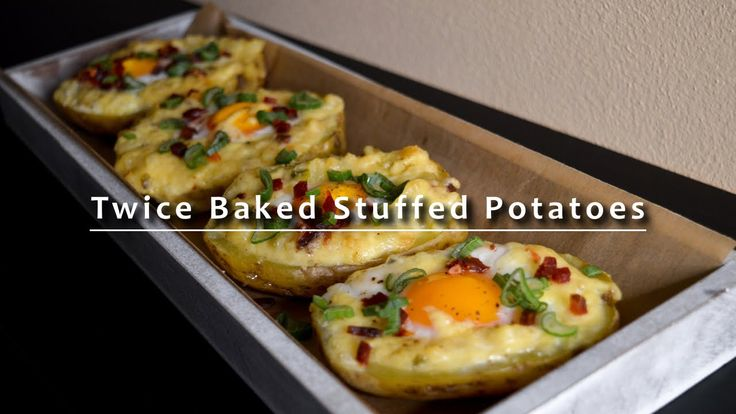 Twice Baked Stuffed Potatoes with Egg