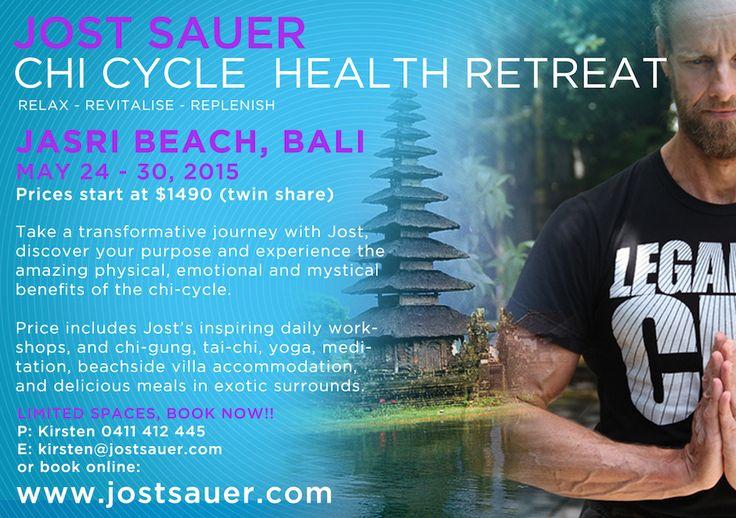 Jost Sauer in Bali 2015 24 – 30 May 2015  Jasri, Bali – The Chi-Cycle Health Retreat