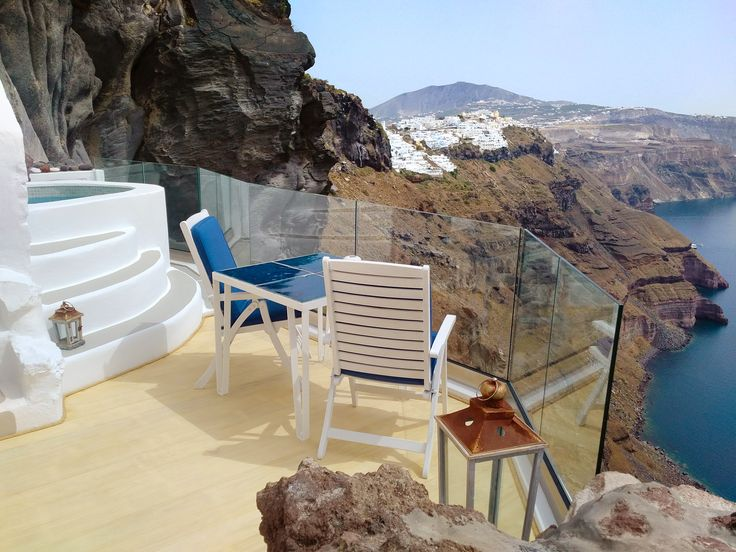 The Cliff Suite recently received spectacular additions like a glass enclosed wrap-around balcony and dreamy plunge pool, literally suspended from the volcanic cliffs...
