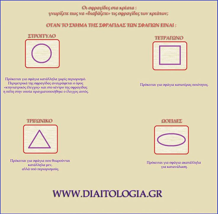 Οι σφραγίδες στα κρέατα : γνωρίζετε πως να «διαβάζετε» τις σφραγίδες των κρεάτων; http://www.diaitologia.gr/sfragida-kreas/