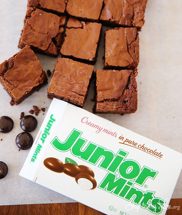 Junior Mints Brownies