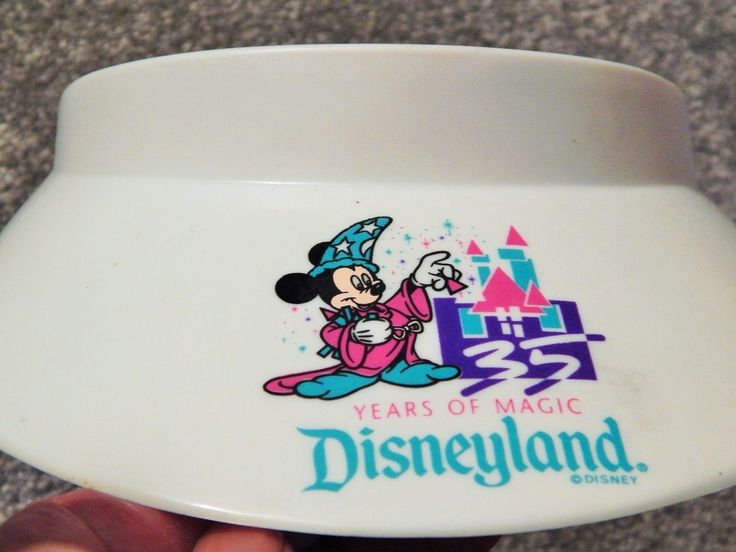RARE 35TH ANNIVERSARY ISSUED DISNEYLAND WHITE MICKEY MOUSE SUN VISOR,COLLECTIBLE #DISNEYLAND