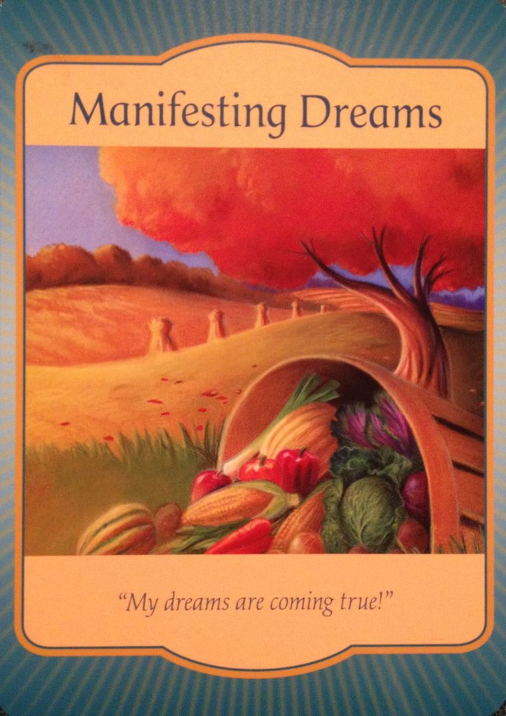 """Daily Angel Oracle Card: Manifesting Dreams, from the Gateway Oracle Card deck, by Denise Linn Manifesting Dreams: """"My dreams are coming true!"""" Card Meaning: """"Life goes in cycles. There is a time f..."""