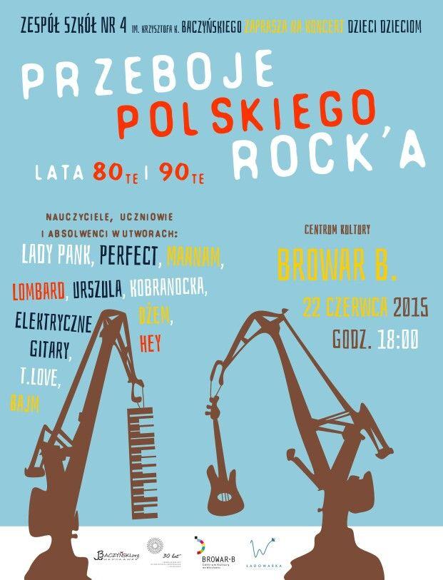 Plakat dla polskiego rocka
