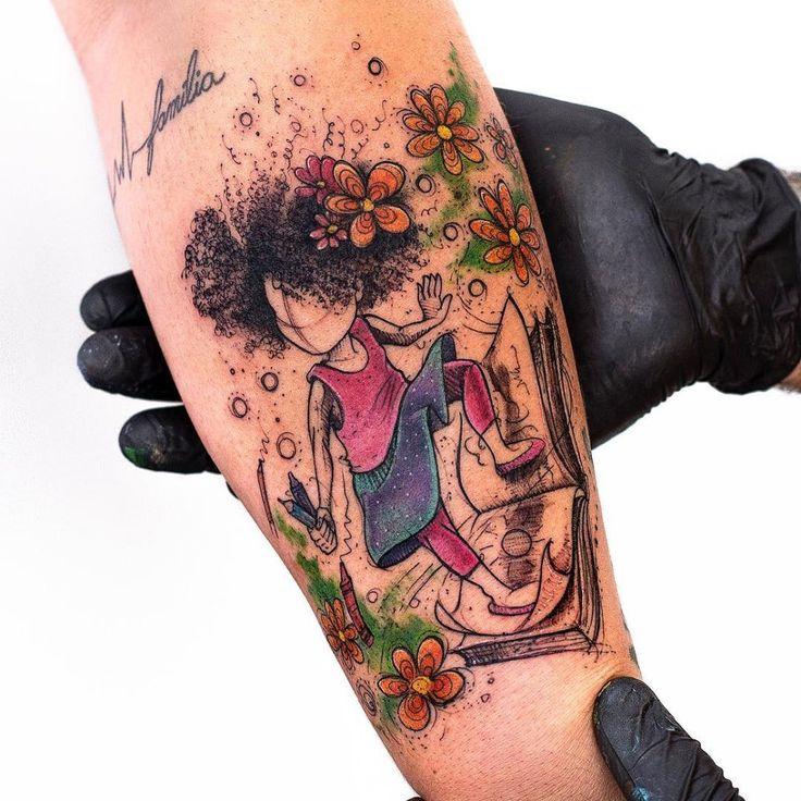 Illustrative Tattoos mit ganz viel Herz